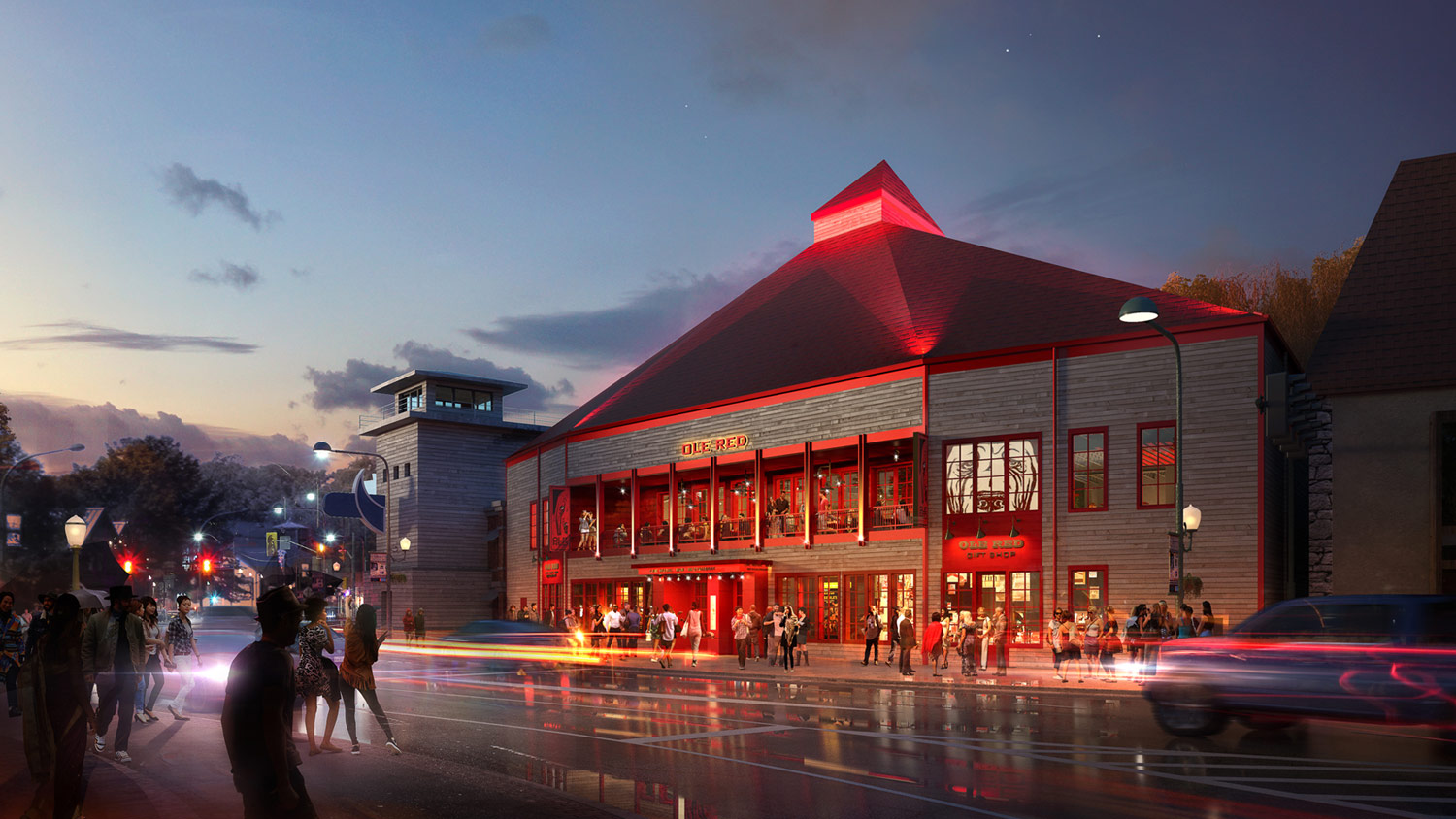 With A Planned Opening In March 2019 Ole Red Gatlinburg Will Be 9 Million Multi Level 16 000 Square Foot Entertainment Venue Two Story Bar And