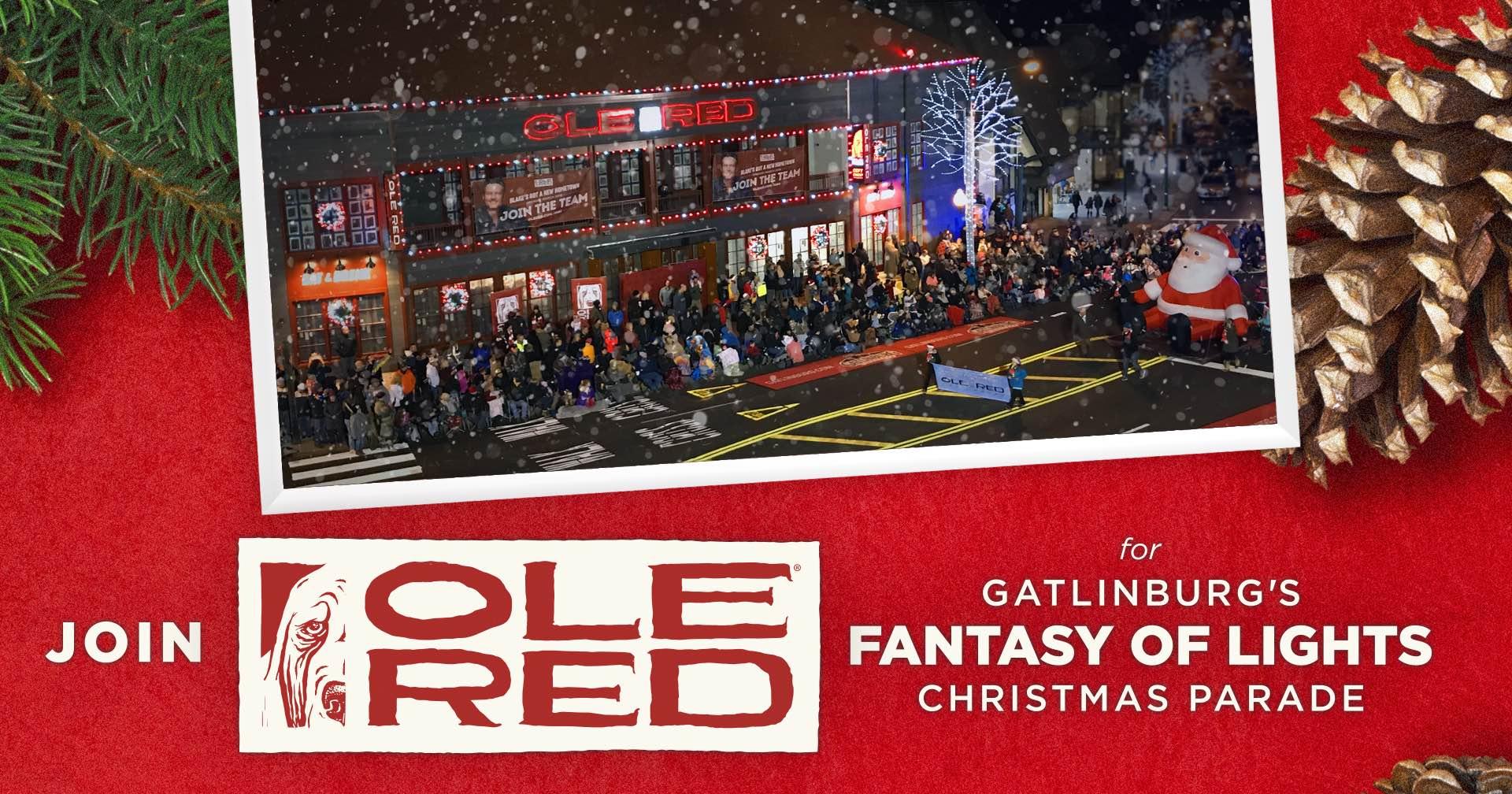 Seating Gatlinburg Christmas Parade 2020 Fantasy of Lights Christmas Parade   Ole Red Gatlinburg