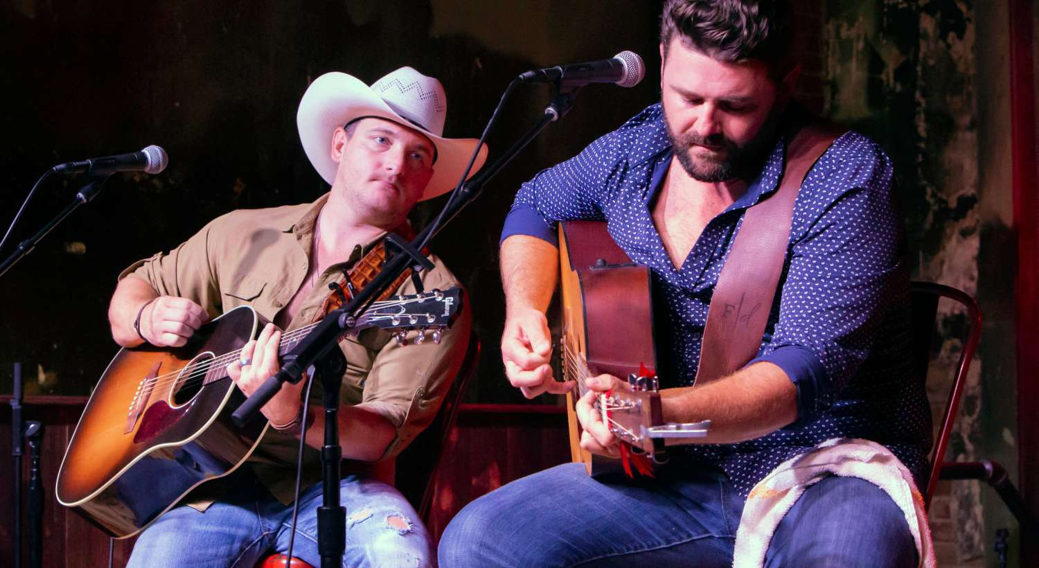 Kaleb Lee and Pryor Baird Play guitars at Ole Red Tishomingo