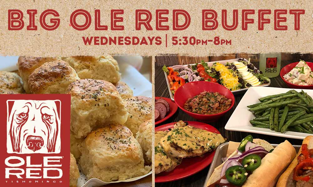 Big Ole Red Buffet - Wednesdays, 5:30 PM – 8 PM