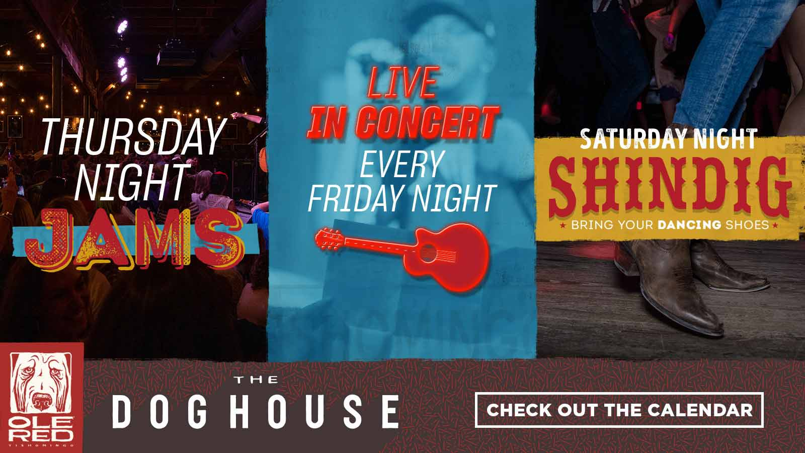 The Doghouse - Thursday Night Jams, Live in Concert Every Friday Night, Saturday Night Shindig - Check Out the Calendar