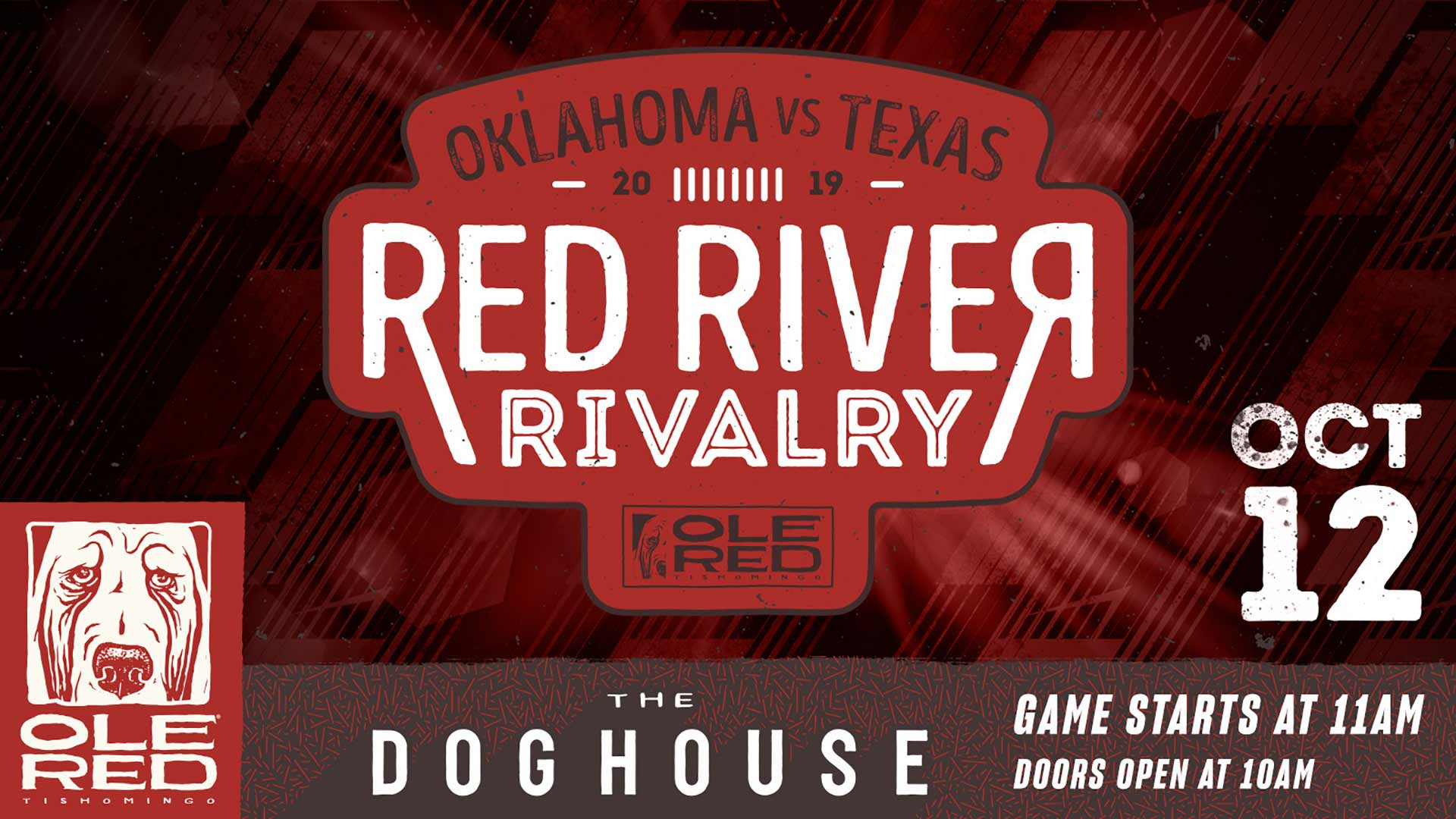 Oklahoma vs Texas 2019 - Red River Rivalry - Oct. 12 - Game Starts at 11 AM
