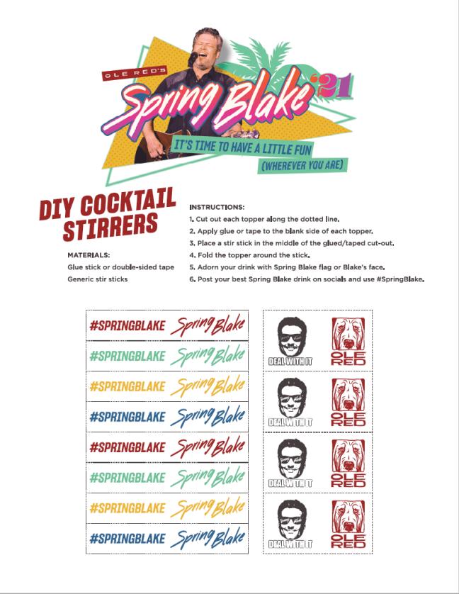 Spring Blake 2021 Drink Stirrers